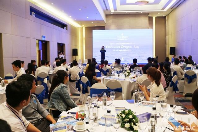 """Hơn 80 đại diện các nhãn hàng đến tham dự sự kiện """" Cơ hội đầu tư sinh lời tại Vinhomes Dragon Bay"""" ngày 23/04 vừa qua."""