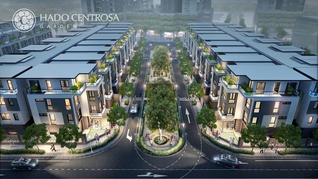 Khu nhà phố hạng sang tại HADO Centrosa Garden