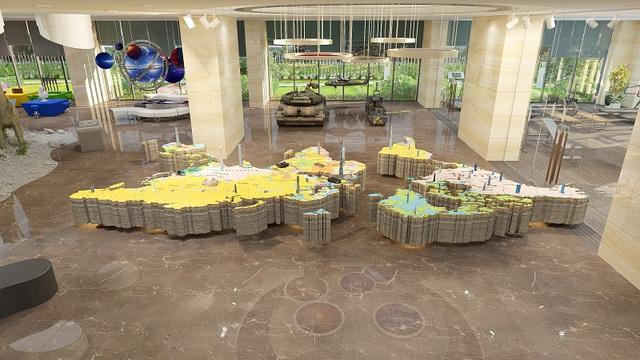 Khu tổ hợp khám thế giới quan được bố trí trong không gian rộng rãi.