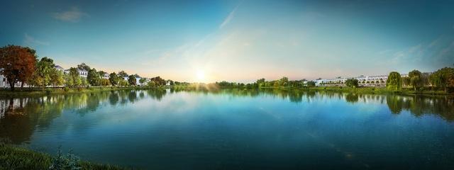 Hồ cảnh quan 3,6ha đóng vai trò quan trọng trong tổng thể không gian xanh tại Lakeview City
