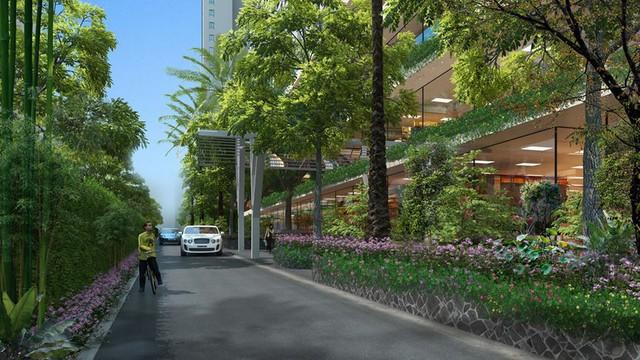 Ecolife Capitol thiết kế xanh và thông minh, sử dụng pin năng lượng mặt trời cung cấp điện cho chiếu sáng công cộng của tòa nhà.
