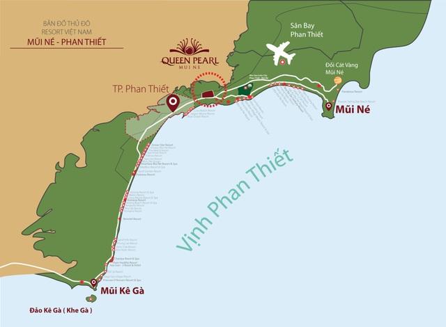 Queen Pearl nằm ngay cửa ngõ thủ đô Resort Việt Nam