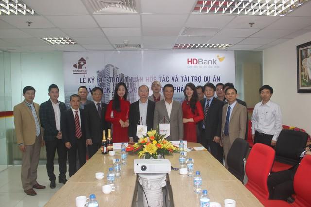 Lễ ký kết thỏa thuận hợp tác giữa chủ đầu tư Đồng Phát và ngân hàng HD Bank