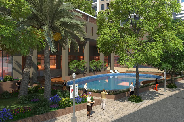 An cư tại Gemek Premium cư dân sẽ được tận hưởng không gian sống xanh và trong lành.