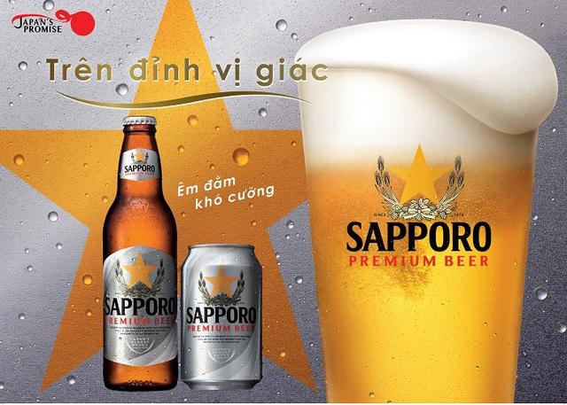 Vị bia chất lượng, vẻ ngoài tinh tế khiến Sapporo Premium Beer tạo điểm nhấn ấn tượng với người dùng