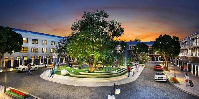 60% diện tích của dự án dành cho các công trình công cộng, hồ cảnh quan,…