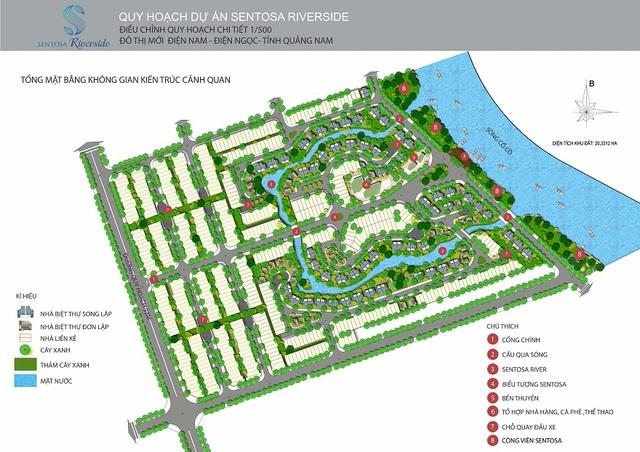 Sentosa Riverside có quy hoạch thành khu đô thị ven sông kiểu mẫu