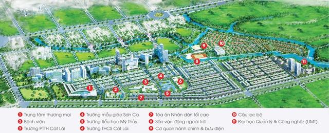 Khu Đô thị Cát Lái được quy hoạch đồng bộ và bài bản với đầy đủ các phân khu chức năng