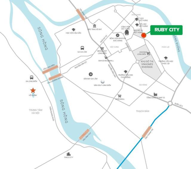 Vị trí dự án Ruby City trên bản đồ