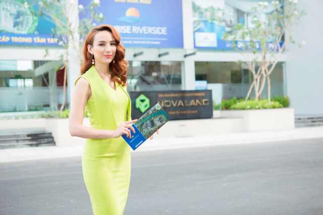 Hoa hậu Ngọc Diễm cũng là một trong những khách hàng chuộng khu Nam Sài Gòn, chuộng Sunrise Riverside