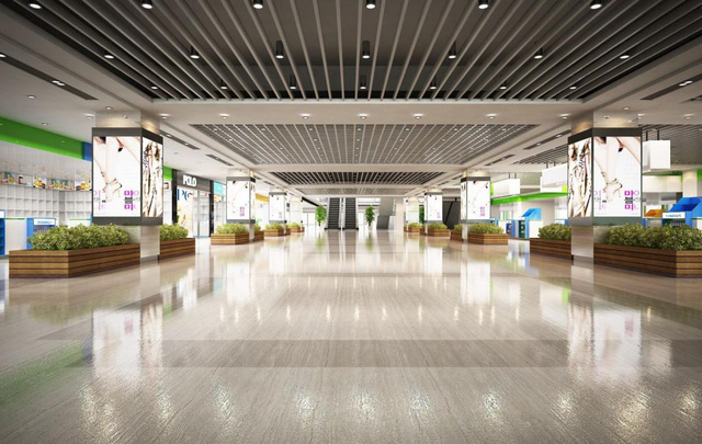 Sảnh đón tiếp khách được đầu tư sang trọng như resort