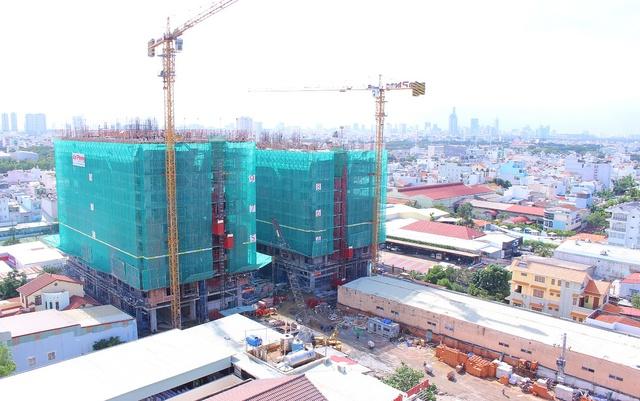 Dự án đang trong giai đoạn đẩy nhanh tiến độ xây dựng để bàn giao nhà ngay dịp Tết 2017