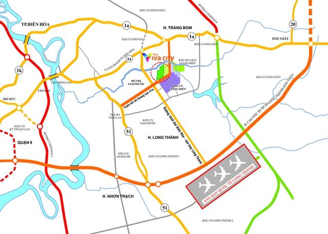 Dự án The Viva city của LDG Group sở hữu vị trí đắc địa bậc nhất Đồng Nai