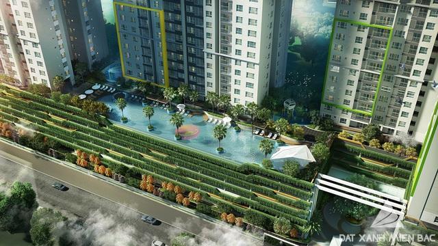 Bể bơi vô cực theo phong cách Singapore ngay tại trái tim dự án.