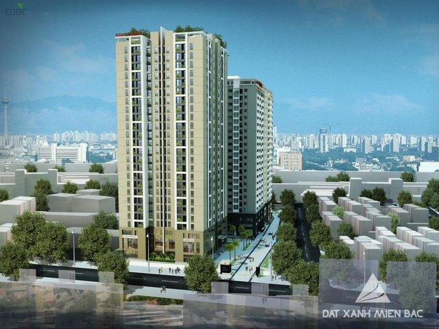 Phối cảnh dự án Star Tower – 283 Khương Trung, Hà Nội do Đất Xanh Miền Bắc chính thức phân phối từ 1,7 tỉ/căn. Hotline: 0917 61 2020.
