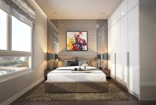 Phối cảnh phòng ngủ dự án Opal Garden.