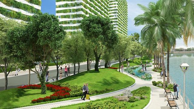 Mảng xanh rất được chú trọng đầu tư tại Diamond Lotus Riverside.