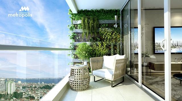 Các căn hộ Vinhomes Metropolis giúp các chủ nhân thưởng ngoạn khung cảnh thơ mộng của thành phố.