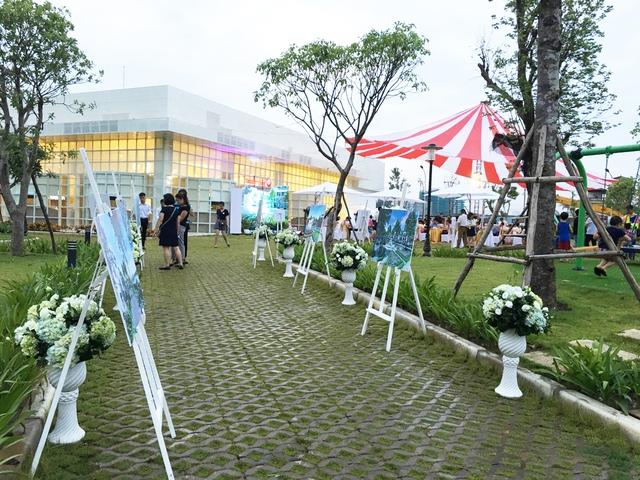Quang cảnh thực tế khu vực sự kiện tại dự án Vinhomes Thăng Long.