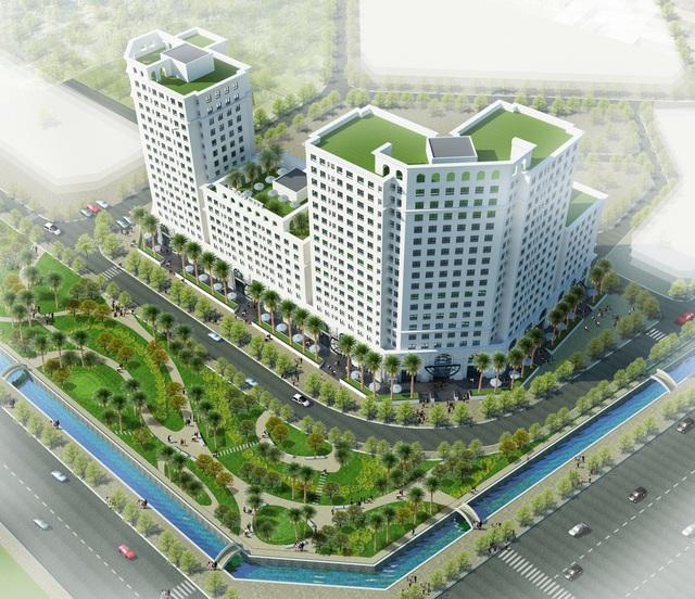 Phối cảnh tổng thể Khu căn hộ cao cấp Eco City.