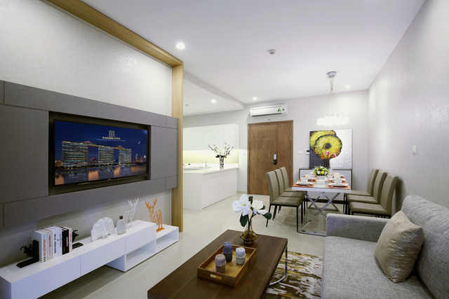 Thiết kế căn hộ rộng thoáng, hiện đại.