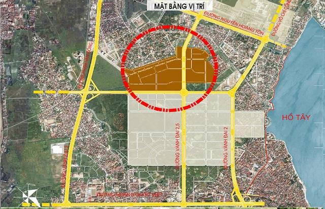 Vị trí và các tuyến đường kết nối dự án Ngoại Giao Đoàn.