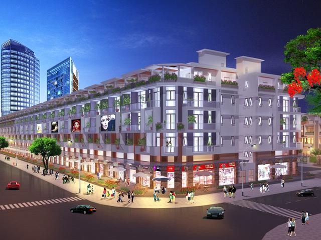 Tuyến phố thương mại sầm uất và sôi động tại Khu đô thị Van Phuc Riverside City.