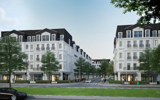 Nhà phố thương mại Belleville Hà Nội đậm kiến trúc Pháp cổ điển ngay tại trung tâm phía Tây thủ đô. Đất Xanh Miền Bắc độc quyền phân phối dự án. Hotline: 0917 61 2020.
