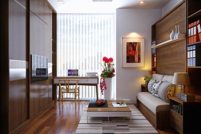 Office –tel Charmington La Pointe được thiết kế sang trọng, tối ưu hóa công năng.