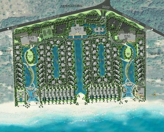 The Hamptons Hồ Tràm với mật độ xây dựng thấp, mang lại không gian thoáng đãng cho khách hàng.