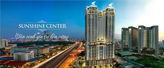 Cụm dịch vụ tổng hợp kết hợp cảnh quan trong nhà tại khu vực tầng chuyển giữa khối đế và khối tháp chung cư.