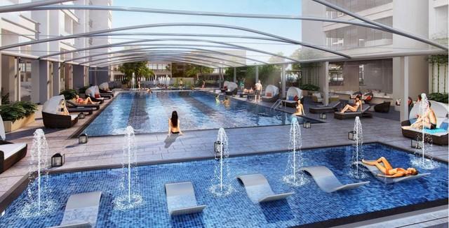 Bể bơi đẳng cấp, chuẩn thượng lưu dành cho cư dân Vinhomes Metropolis.