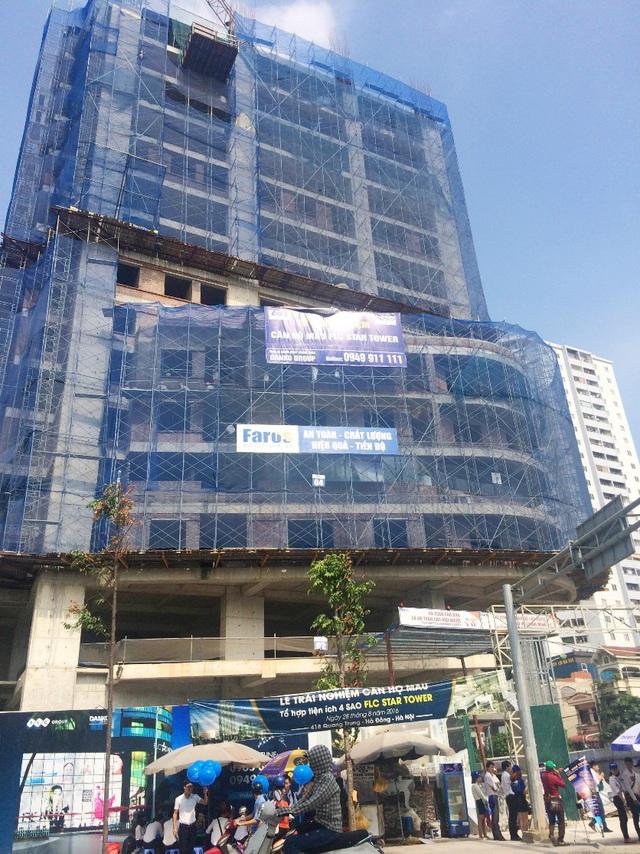 FLC Star Tower đang khẩn trưởng thi công ngày đêm, dự kiến bàn giao vào Quý IV/2017.