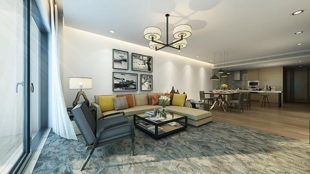 Nội thất của căn hộ được cam kết chất lượng 5 sao theo tiêu chuẩn quốc tế của IHG.
