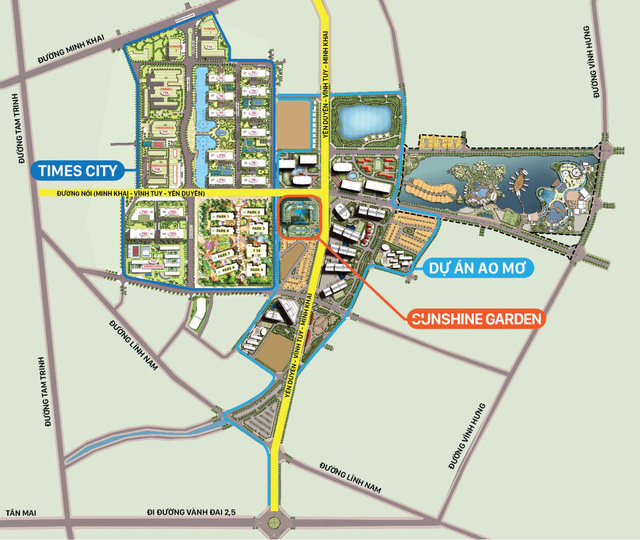 Quy hoạch đường nâng tầm dự án Sunshine Garden.