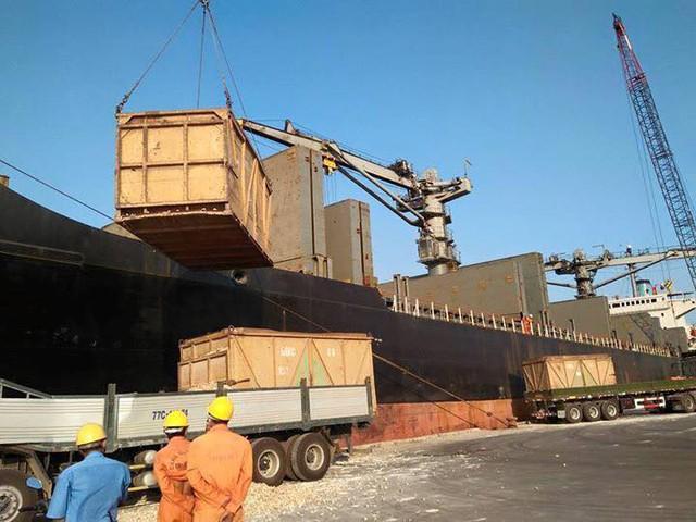 Hoạt động xuất khẩu sắn lát của HKB tại cảng Quy Nhơn-Bình Định.