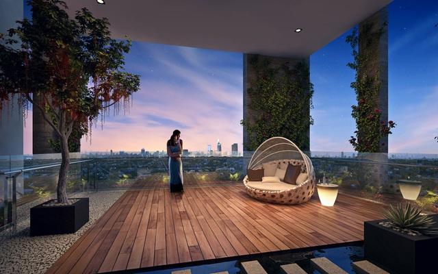 Khu vườn treo trên không – không gian riêng tư dành cho cư dân sở hữu căn hộ.