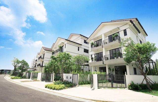 Biệt thự tại Vinhomes Thăng Long được quy hoạch đồng bộ, hiện đại.