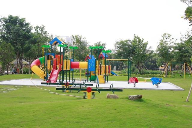 Công viên trẻ em tại dự án Jamona Golden Silk đã hoàn thiện.