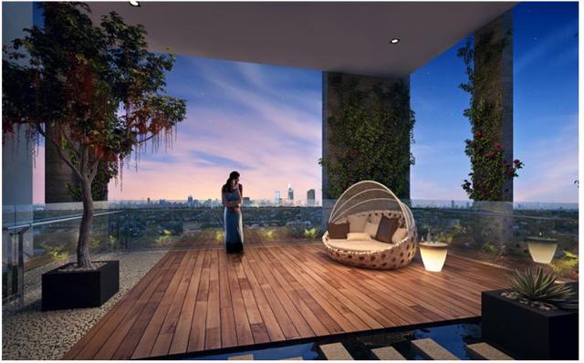 Không gian sống thanh bình tại HaDo Centrosa Garden.