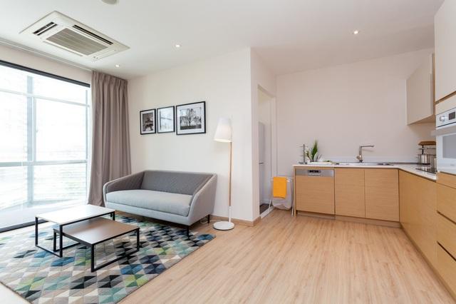 Tầng 3 của trung tâm là một không gian sống hoàn hảo với hệ thống căn hộ mẫu hoàn thiện nội thất.