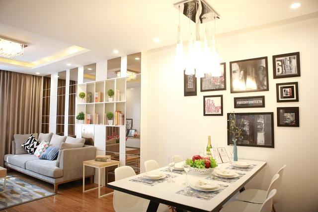 Hình ảnh căn hộ mẫu Hateco Hoàng Mai.