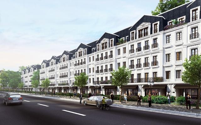 Khu nhà phố thương mại Belleville mang nét thiết kế của thành phố Belleville ngoại ô Paris, yêu kiều dưới những vòm cây xanh mát, nhộn nhịp tấp nập những dãy phố thương mại.