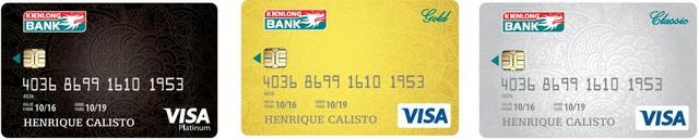 3 hạng thẻ Kienlongbank Visa được phát hành: Platinum, Gold, Classic.