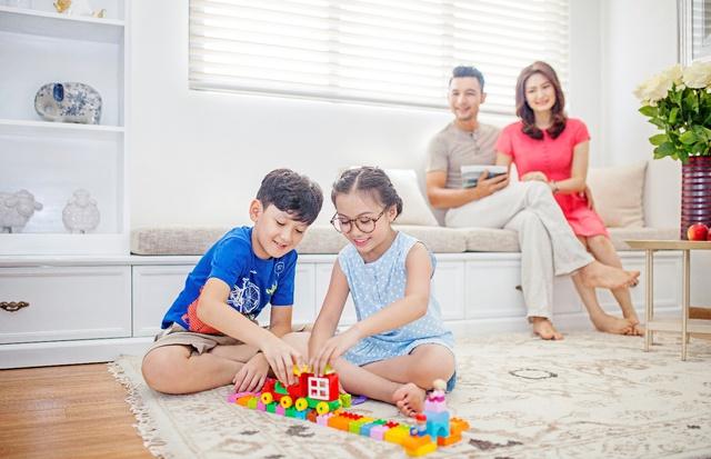 Vinhomes Thăng Long đảm bảm sự an toàn cho trẻ em với mô hình biệt lập, khép kín.