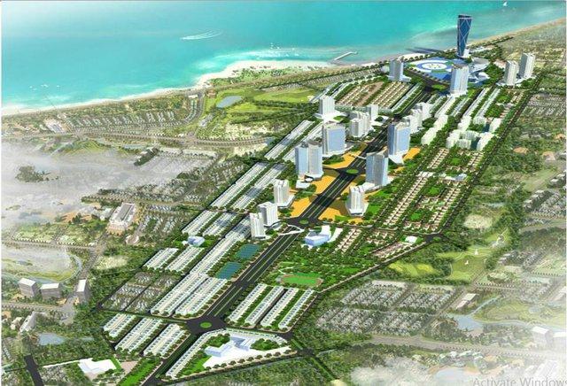 Phối cảnh Khu trung tâm đô thị - Thương mại – Dịch vụ - Tài chính – Du lịch Nha Trang.