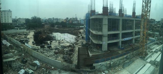 Tiến độ thi công dự án tại thời điểm ngày 8/11/2016, tòa IP1 đã xây đến tầng 4, IP2 đang hoàn thiện phần móng.