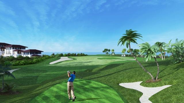 FLC Hạ Long sở hữu sân golf view Vịnh trên địa hình đồi núi - thách thức độ khó của các golfer chuyên nghiệp.