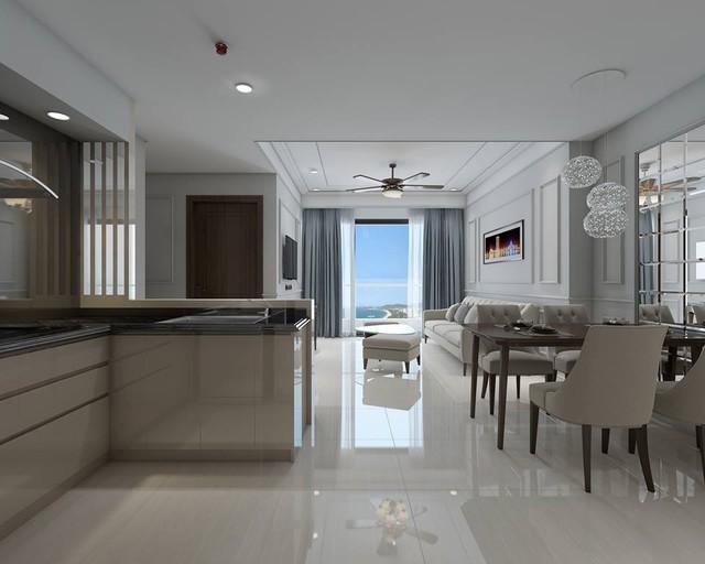 Không gian hiện đại, sang trọng tại các căn hộ Luxury Apartment.