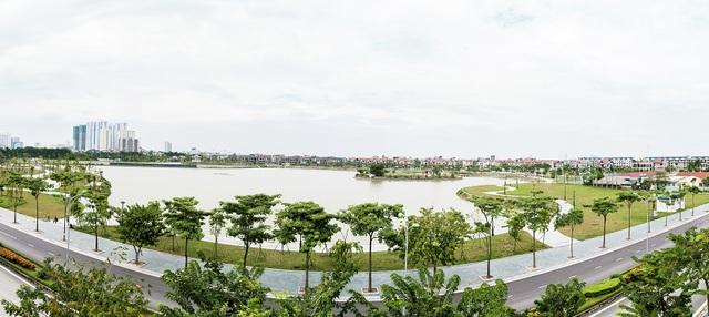 An Bình City sở hữu hồ điều hòa lớn nhất nội đô.